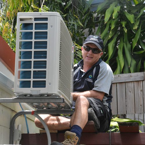 Freshwater air-conditioning installation